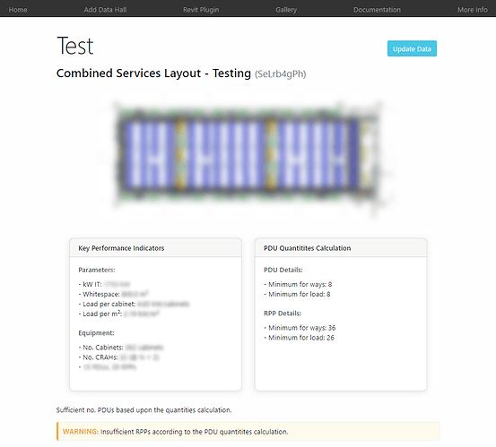 censored screenshot of the web app